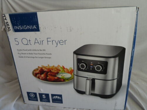 Insignia 5 Qt Analog Air Fryer, Stainless Steel,