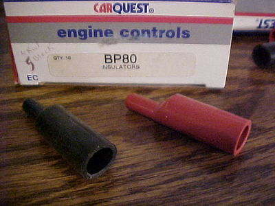 BP80 BATTERY INSULATORS ONLY one each RED AND BLACK FREE 1ST CLASS SHIPPING