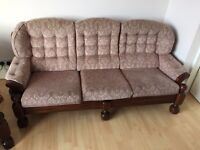 3 seater sofa & two chairs - Free for collection