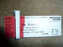 Ticket to THE EVENTS at Malthouse Theatre for Sat 25th June 3 pm Narre Warren North Casey Area Preview