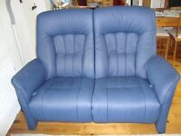 Himolla 2 seater recliner supersoft leather gas sprung sofa