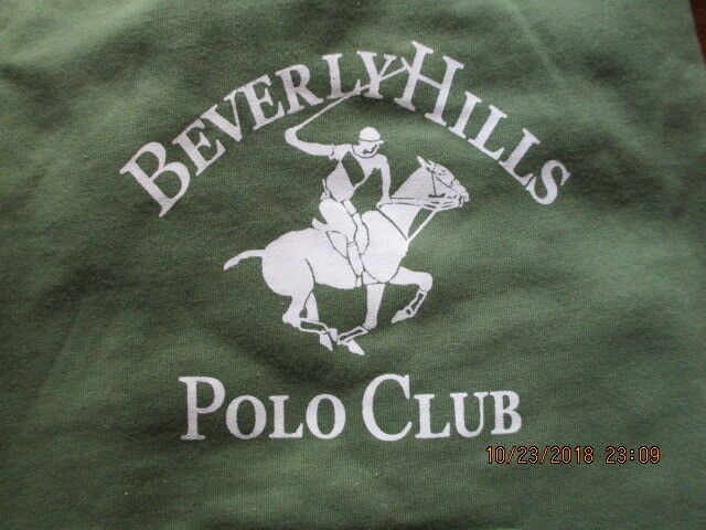 DOG HOODIE 18 BACK MEASUREMENT NEXT TO NEW OLIVE GREEN BEVERLYHILLS POLO CLUB - $2.00
