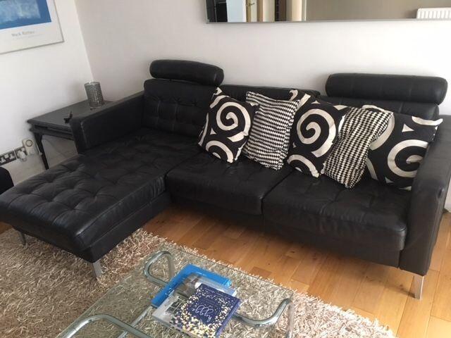 Ikea Karlstad Leather Sofa