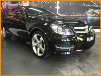 2015 Mercedes-Benz C180 C204 Avantgarde Black 7 Speed Sports Automatic Coupe Prospect Blacktown Area Preview