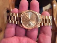 Solid 18 ct Gold Gents Rolex