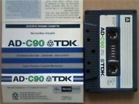 £3 +FP&P TDK AD 90 ACOUSTIC DYNAMIC CASSETTE TAPES 1979-1981 JOB LOT OR SOLO
