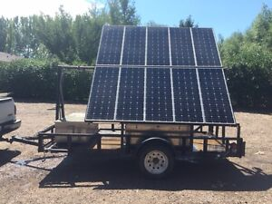 Go off grid with Solar Panel/Battery Trailer