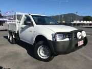 2012 Mitsubishi Triton MN MY12 GLX 4x2 White 4 Speed Automatic Cab Chassis Bungalow Cairns City Preview