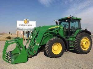 John Deere 7820 Tractor w/ 746 SL Loader & Grapple for sale!