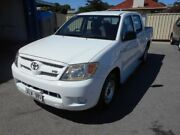 2006 Toyota Hilux GGN15R SR White 5 Speed Manual Dual Cab Pickup Christies Beach Morphett Vale Area Preview