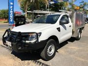 2012 Ford Ranger PX XL White 6 Speed Sports Automatic Cab Chassis Wodonga Wodonga Area Preview