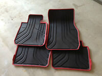 BMW 3 series Sportline rubber Mats -black with red trim, 328/335