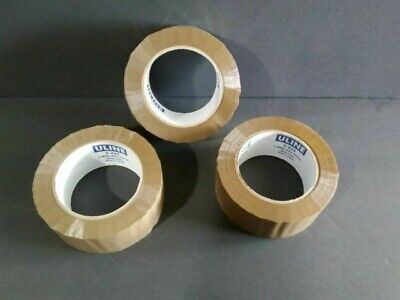 3 Uline S-422 Industrial Pack Ship Tape 2 X 110 Yds Tan Free Shipping