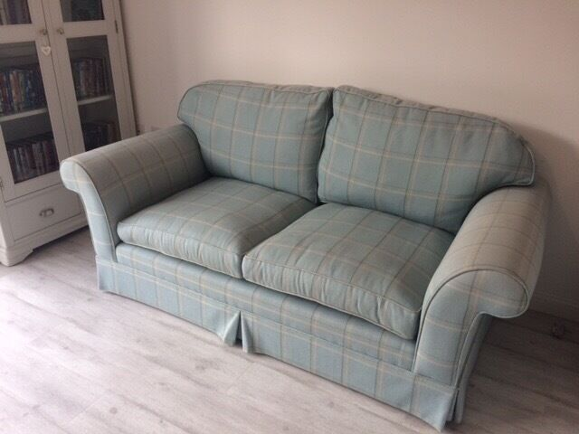 Laura Ashley Winchester Sofa In Corby Duck Egg Blue In