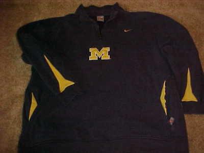 (Michigan Wolverines, NIKE, 1/4 zip pullover jacket, anorak, sz XL, University of)