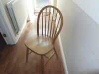 CURVED PINE LADDER BACK CHAIR