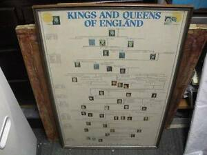 Framed 80's Kings and Queens of England Poster $80 Albion Brisbane North East Preview