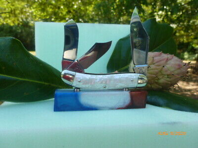 Fight'n Rooster Celebrated Crushed Pearl Stockman 07/40 Pocket Knife Germany