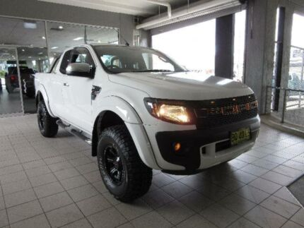 2012 Ford Ranger PX XL 2.2 HI-Rider (4x2) Cool White 6 Speed Automatic Super Cab Chassis Thornleigh Hornsby Area Preview