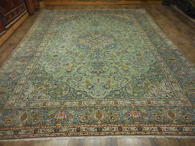 C1950 VG DY SUPER FINE PERSIAN NAEIN NAIN KASHAN DESIGN 10x13.2 ESTATE SALE RUG  for sale  Hagerstown