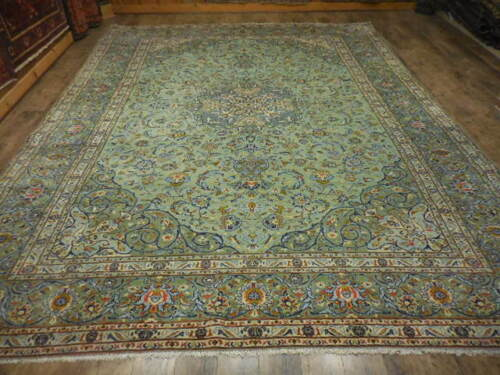 C1950 Vg Dy Super Fine Persian Naein Nain Kashan Design 10x13.2 Estate Sale Rug