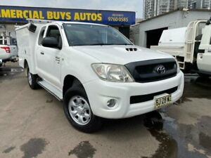 2010 Toyota Hilux KUN26R MY11 Upgrade SR (4x4) White 5 Speed Manual X Cab Cab Chassis Clyde Parramatta Area Preview