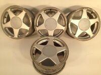 "AZEV A titan 15"" 4x100 7j alloy wheels. Deep dish. not borbet bbs, ats, lenso, hartge, brabus, AEZ"