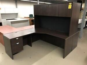 *****PRICE REDUCED!!! $100.00 OFF***** Office Furniture Used L-shape Desk Suite