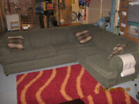 Sectional  (Hide a Bed) - Can deliver