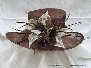 Brand New Faux Feather & Mesh Hats Fascinator Hats for wedding