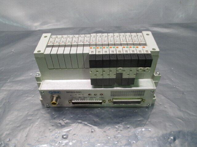 SMC VV5Q11-ULB990070, 16 Valve Pneumatic Manifold w/NP420-DN1, 100140