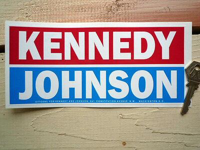 KENNEDY JOHNSON 8inch CAR Bumper Sticker 60