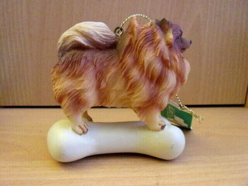 NWT Pomeranian Puppy Dog Hanging Ornament / Figurine