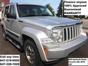 2008 Jeep Liberty Sport 4X4 FINANCE 100% APPROVED 103,118 km