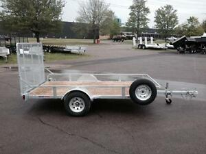 "NEW 2018 K-TRAIL 68"" x 10.25' GALVANIZED UTILITY TRAILER"