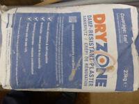 4 x 23kg Bags DryZone Damp-Resistant Plaster