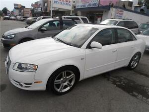 2008 Audi A4 Quattro 2.0T AWD Leather Sunroof  White 111,000km