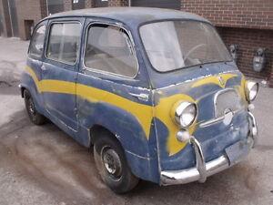 Fiat 600 Multipla vintage car SUV bus-project
