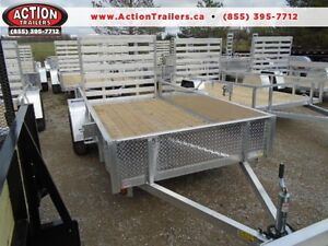 10FT ALUMINUM UTILITY TRAILER - EASY TO HAUL, LIGHT WEIGHT!