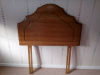 Single Bed Wooden Headboard