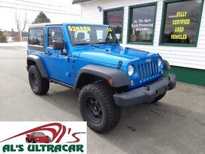 2015 Jeep Wrangler w/ Lift Kit & Two Tops only $219 bi-weekly!
