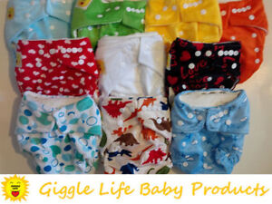 Giggle Life Cloth Diapers - Baby 7-36 lbs, Youth & Adult Sizes Cornwall Ontario image 2