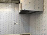 KITCHEN HOOD VENT FRESH AIR EXHAUST STAINLESS STEEL CANOPY RESTAURANT PIZZA CHICKEN BAKERY PUB BAR