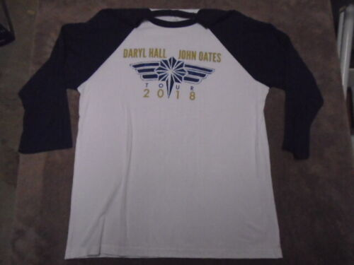 RARE Daryl HALL & John OATES tour SHIRT large 3/4 sleeves 2018 U.S. dates rock !