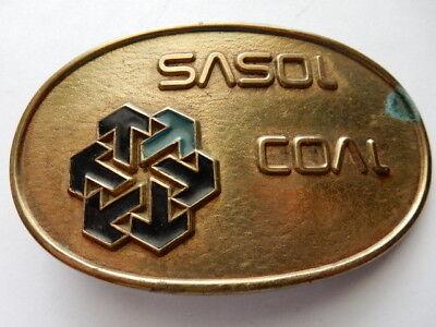 Sasol Coal Brass Belt Buckle