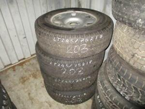 245/75 R17 FORD F350 WINTER TIRES AND RIMS PACKAGE (SET OF 4) - USED TOYO OPEN COUNTRY APPROX. 90% TREAD