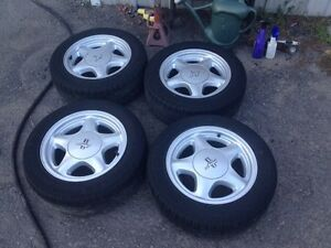 SET OF 4 BETTER THAN NEW 4LUG MUSTANG PONY WHEELS AND TIRES