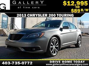 2013 Chrysler 200 Touring $89 bi-weekly APPLY NOW DRIVE NOW