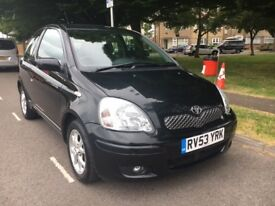 Toyota Yaris 1.3 Automatic - very low mileage; elderly owner; black; 3-door; aircon; sunroof