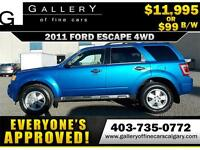 2012 Ford Escape XLT 4X4 $99 bi-weekly APPLY NOW DRIVE NOW